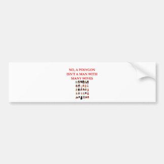 math joke bumper sticker