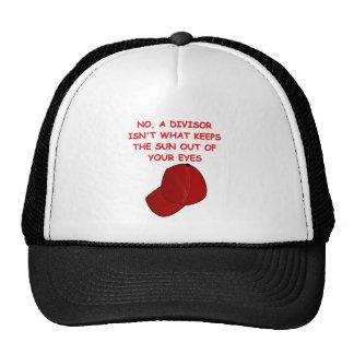 math joke mesh hat