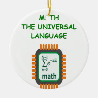 math joke Double-Sided ceramic round christmas ornament