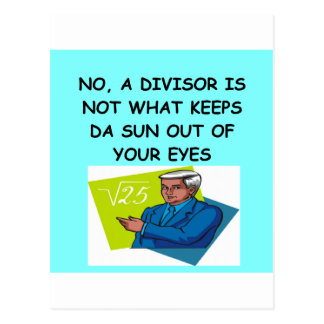 math joke postcard