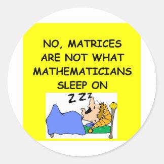 math joke round stickers