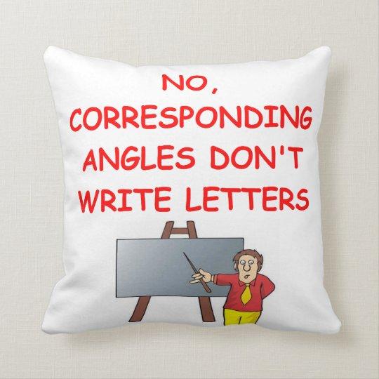 math joke throw pillow