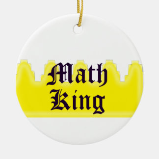 Math King Ceramic Ornament