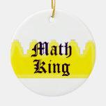 Math King Christmas Tree Ornament