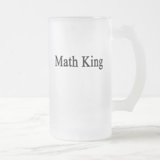 Math King Frosted Glass Beer Mug