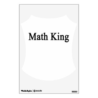 Math King Wall Sticker