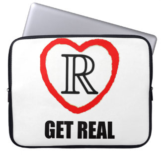 "Math Laptop Sleeve 15"" - Real Numbers - Get Real"