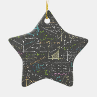 Math Lessons Ceramic Ornament