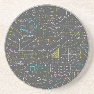 Math Lessons Beverage Coaster