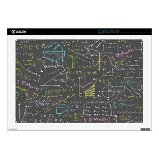 """Math Lessons Decal For 17"""" Laptop"""