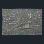 """Math Lessons Kitchen Towel<br><div class=""""desc"""">Dozens of equations from various fields of math!</div>"""