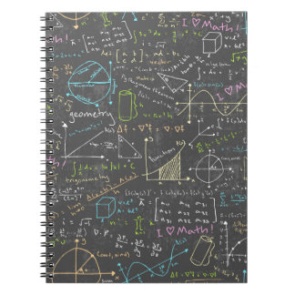 Math Lessons Spiral Notebook