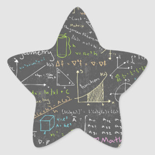 Math Lessons Star Sticker at Zazzle