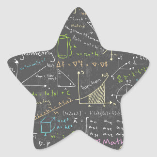Math Lessons Star Sticker