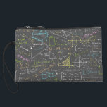 """Math Lessons Wristlet<br><div class=""""desc"""">All your favorite equations in one place!</div>"""