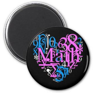 Math Love 2 Inch Round Magnet