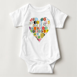 Math love baby bodysuit