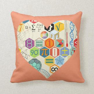 math love cushion throw pillow