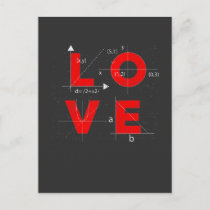 Math Love Mathematician Teacher Student Science Postcard