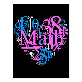 Math Love Postcard