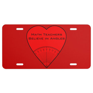 Math Lovers License Plate License Plate
