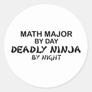 Math Major Deadly Ninja by Night Classic Round Sticker