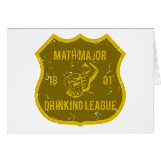 Math Major Drinking League Card
