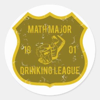 Math Major Drinking League Classic Round Sticker