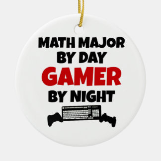Math Major Gamer Ceramic Ornament