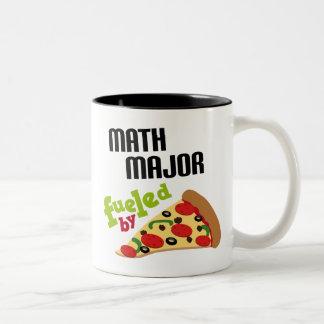 Math Major Gift (Pizza) Two-Tone Coffee Mug