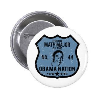 Math Major Obama Nation Pinback Buttons