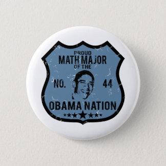 Math Major Obama Nation Pinback Button