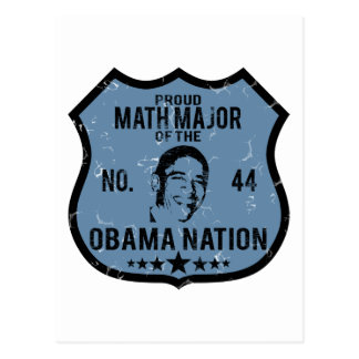 Math Major Obama Nation Postcard