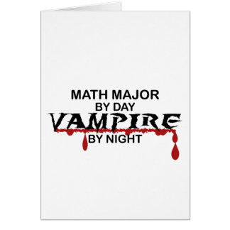 Math Major Vampire by Night Card