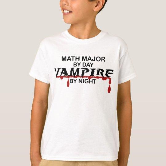 Math Major Vampire by Night T-Shirt