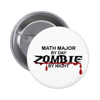 Math Major Zombie Pinback Buttons