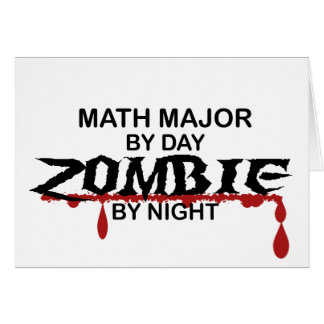 Math Major Zombie Card