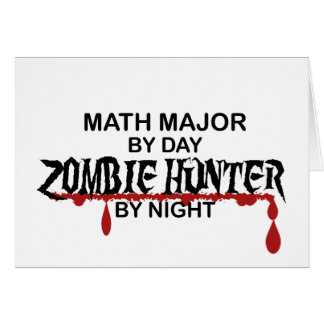Math Major Zombie Hunter Card