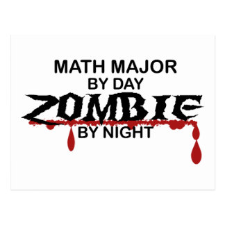 Math Major Zombie Postcard