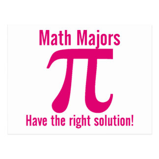 Math Majors have the right solution - pink Postcard