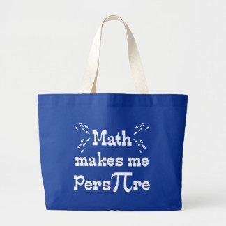 Math makes me Pers-PI-re - Funny Math Pi Slogan Canvas Bag