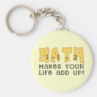 Math Makes Your Life Add Up Tshirts and Gifts Keychain