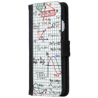 Math Mathematic Formulas Numbers iPhone 6/6s Wallet Case
