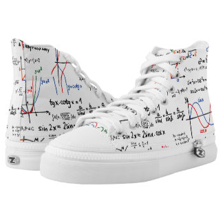 Math Mathematics High-Top Sneakers