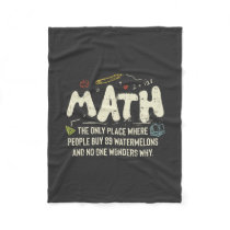 Math  Mathematics Math Teacher Gift Fleece Blanket