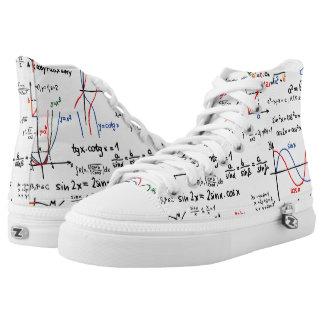 Math Mathematics Printed Shoes