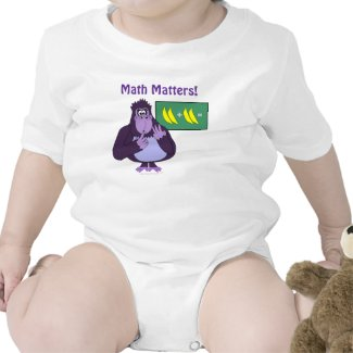 Math Matters Funny Cartoon Gorilla Math Problem Tees