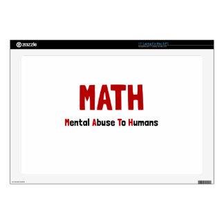 """Math Mental Abuse 17"""" Laptop Skins"""