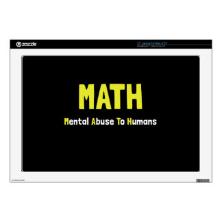 Math Mental Abuse Laptop Decals