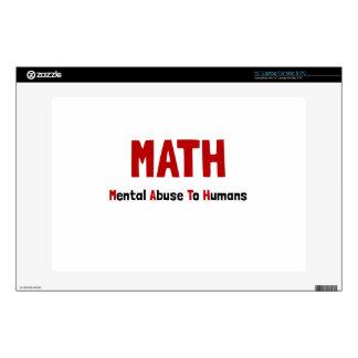 Math Mental Abuse Laptop Skins
